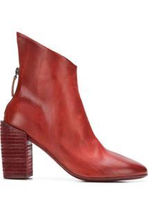 Marsèll Ankle Boot Com Recorte - Vermelho