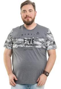 Camiseta Com Recortes Cinza Bgo