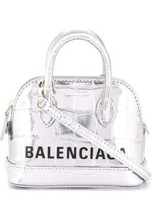 Balenciaga Bolsa Com Alça De Mão Ville - Prateado