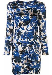 Boutique Moschino Vestido Slim Com Estampa Floral - Azul