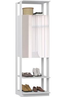 Closet 2 Portas Espelhadas 1007 Branco - Bentec