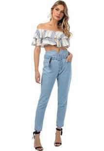 Calça Jeans Clochard Tng Feminina - Feminino