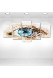 Quadro Decorativo - Eye242 - Composto De 5 Quadros - Multicolorido - Dafiti
