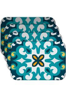 Jogo Americano Love Decor Mandala Blue Kit Com 4 Peças