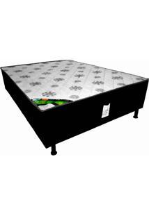 Cama Box Conjugado Casal Espuma Ortopédica Selado 138X188
