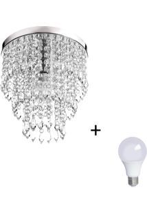 Lustre De Cristal Acrilico Manucrillic Com Lâmpada 6000K (Br
