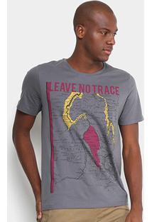 Camiseta Burn Leave No Trace Masculina - Masculino-Cinza