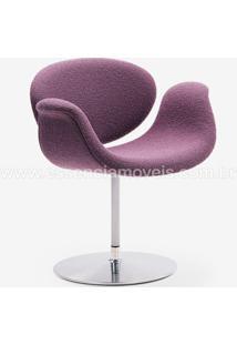Cadeira Tulipa Suede Cinza Chumbo - Wk-Pav-10