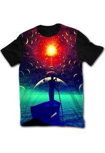 Camiseta Manga Curta Stompy Psicodelica 39 Preto
