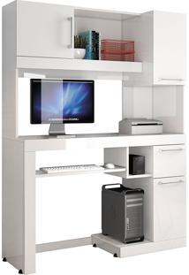 Mesa Computador Office Everest Branco Edn Móveis