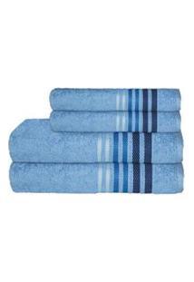 Jogo De Toalhas De Banho Camesa Dynamo Azul - 4 Peças