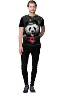Camiseta Stompy Panda Food Masculino - Masculino