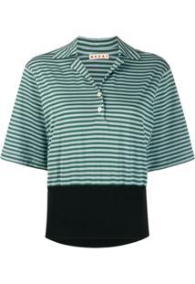 Marni Camisa Polo Listrada - Verde
