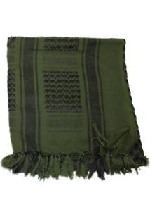 Lenço Nautika Para Proteção Shemagh Tático Airsoft Verde