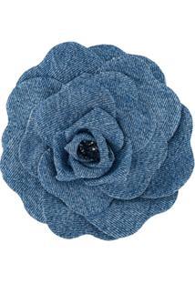 Philosophy Di Lorenzo Serafini Broche Jeans Floral De Corsage - Azul