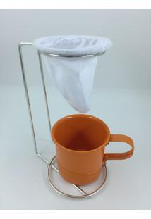 Kit Coador De Café Egoista Mais Caneca Laranja