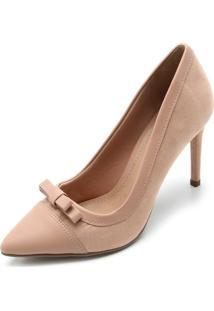 Scarpin Dafiti Shoes Laço Nude