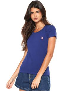 Camiseta Polo Wear Bã¡Sica Azul - Azul - Feminino - Algodã£O - Dafiti