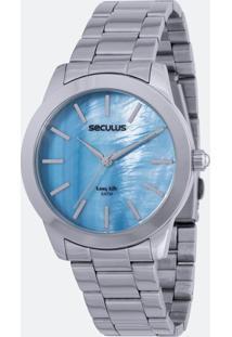 Relógio Feminino Seculus 20389L0Sgna1 Analógico 5Atm