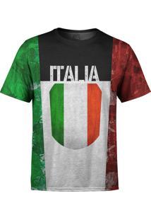 Camiseta Estampada Over Fame Itália Multicolorido