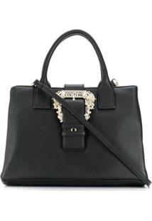 Versace Jeans Couture Bolsa Tote Com Aplicação De Fivela - Preto