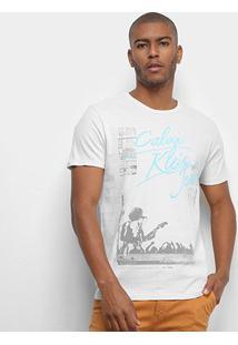 Camiseta Calvin Klein Jeans Show Masculina - Masculino-Areia