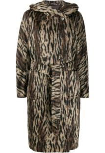 Tagliatore Daisy Hooded Coat - Marrom