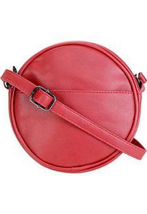 Bolsa Pagani Mini Bag Redonda Feminina - Feminino-Vermelho