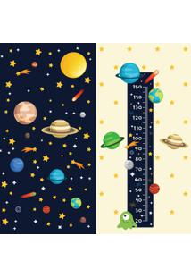 Adesivo De Parede Quartinhos Espaço Sistema Solar E Regua Crescimento