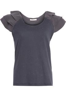Camiseta Feminina Avelino - Cinza