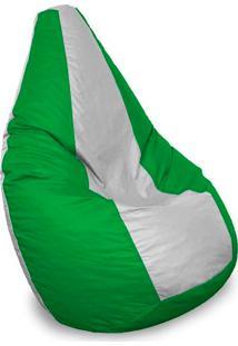 Puff Perão Em Courino-Phoenix Puff - Verde / Branco