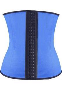 Cinta Modeladora Redutor Corretor Postural 7 Barbatanas - Feminino-Azul