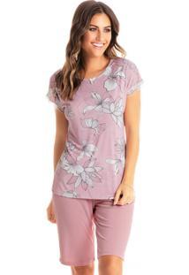 Pijama Niterói Bermuda - Rosa Claro/P