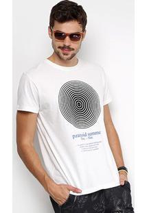 Camiseta Foxton Gola Careca Paranoid Summer Masculina - Masculino-Off White