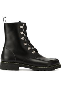 Magliano Ankle Boot Com Bico Quadrado - Preto