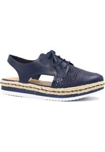 Sapato Zariff Shoes Oxford Vazado Azul
