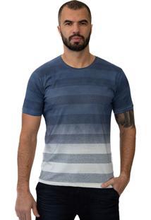 Camiseta Baiki Badhai Degrade Listrada Azul Marinho
