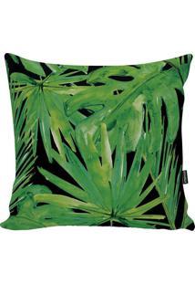 Capa De Almofada Blackgreen Foliage- Verde & Preta- Stm Home