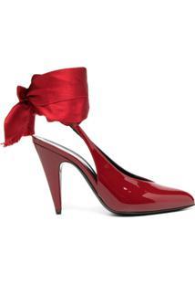 Saint Laurent Sapato Venus - Vermelho
