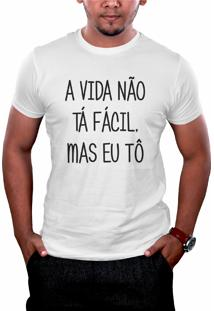 Camiseta Hunter Tô Fácil Branca