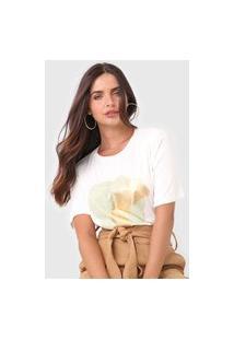 Camiseta Maria Valentina Metalizada Off-White