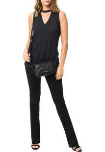 Bolsa Pequena Calvin Klein Jeans Michelle Preto - U