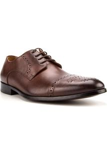 Sapato Masculino Woche Premium Pontilhados Tabaco