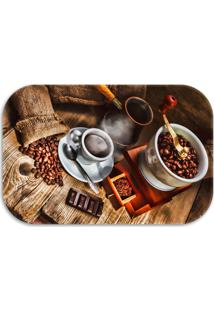 Tapete Decorativo Lar Doce Lar Decor Coffee 40Cm X 60Cm Marrom