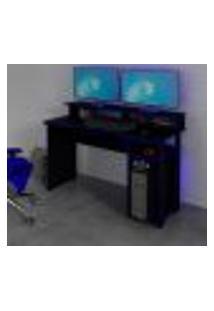 Mesa Gamer Master Preta E Azul