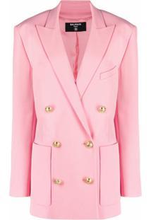 Balmain Double-Breasted Blazer - Rosa