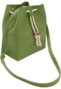 Bolsa Saco Dracena Colcci 10026 Feminina - Feminino-Verde