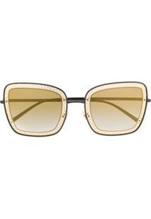 Dolce & Gabbana Eyewear Óculos De Sol Ornamentado - Preto