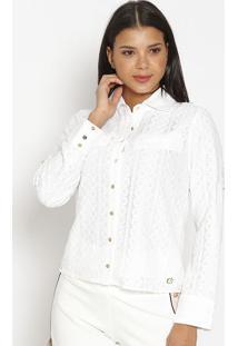Camisa Em Renda- Brancacarmen Steffens