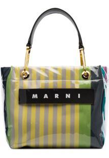 Marni Bolsa Tote Listrada Com Logo - Stc37 Multicoloured